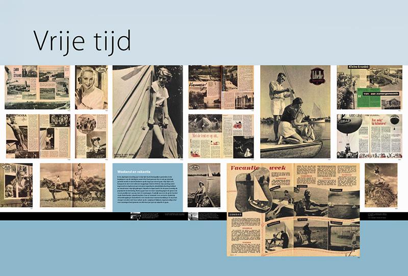 Vrije Tijd paneel tentoonstelling 40 jaar Libelle