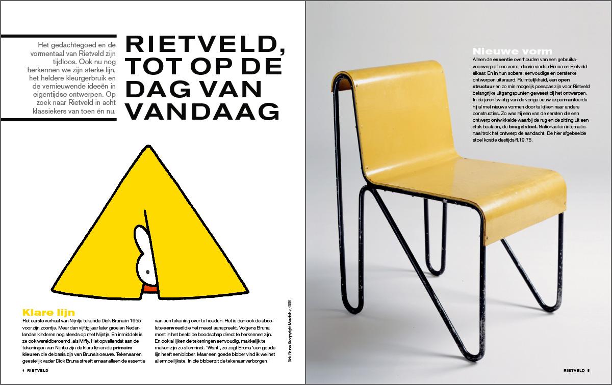 Binnenwerk Rietveld magazine. Beeldverhaal