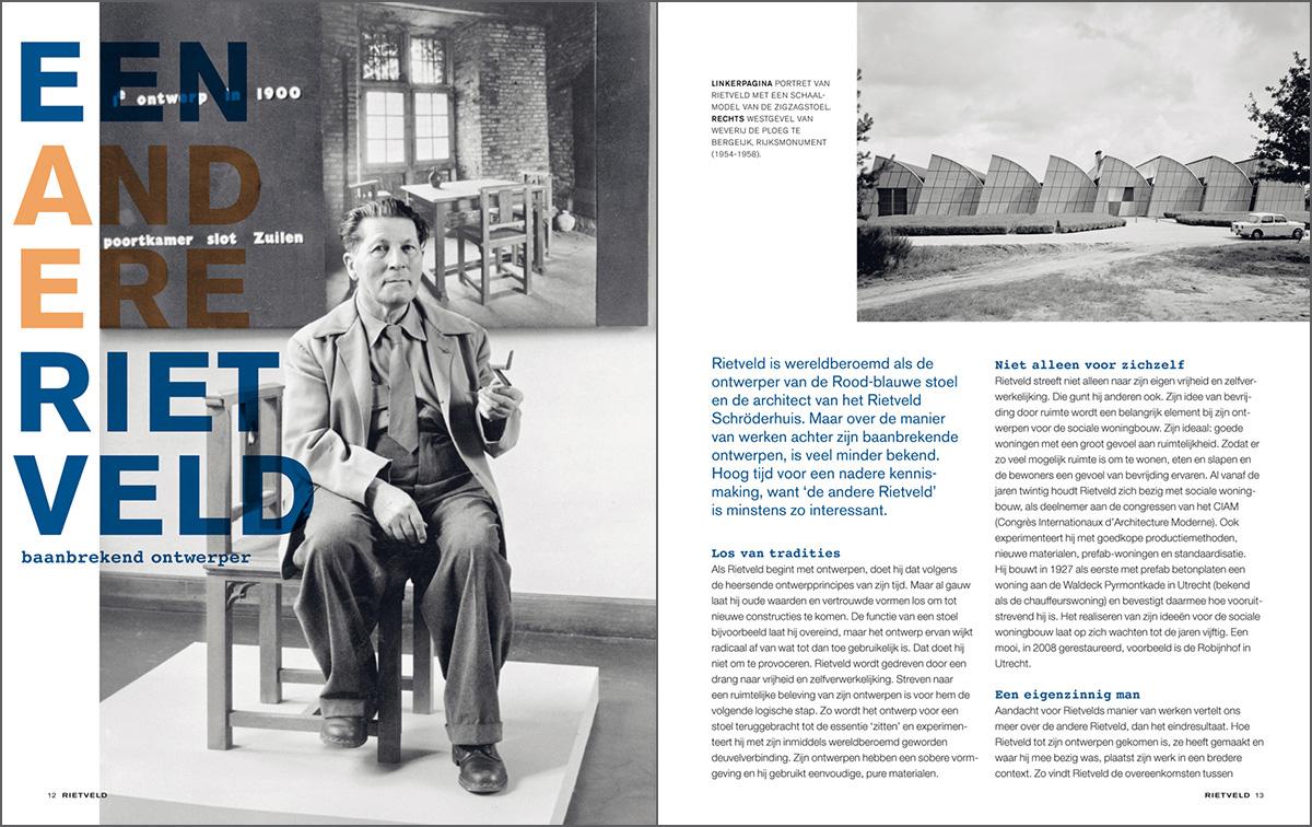 Binnenwerk Rietveld magazine. Een andere Rietveld.