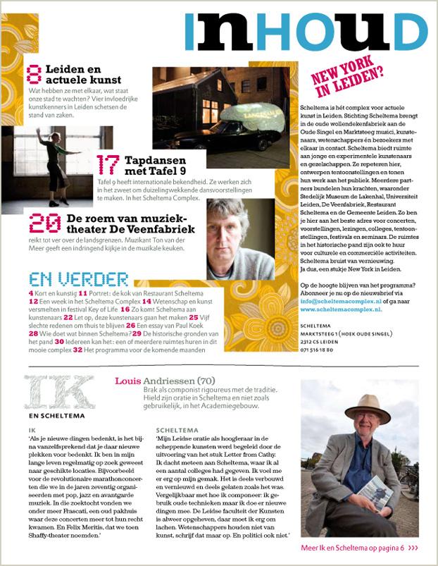 Inhoud Scheltema magazine