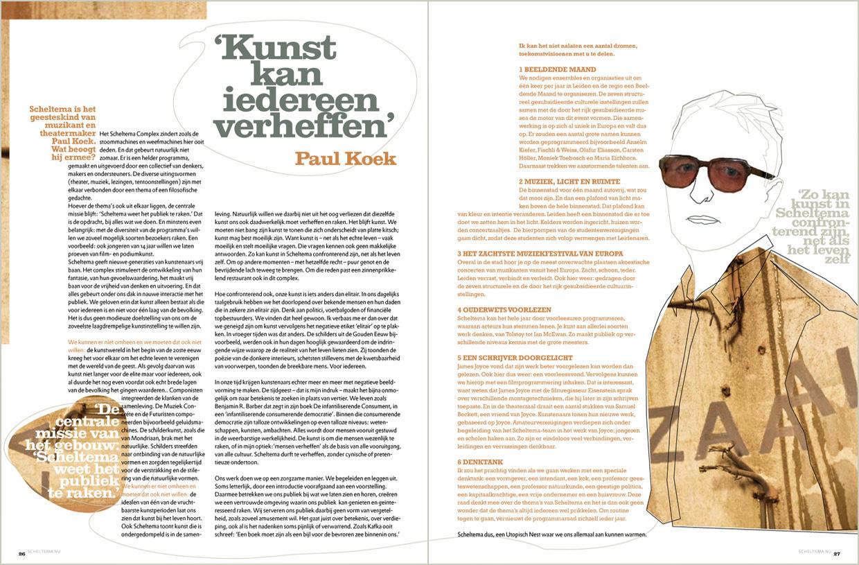 Scheltema magazine, Essay van Paul Koek.